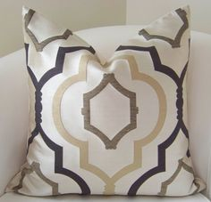 Decorative Pillow Cover Brown Trellis Throw Pillow by nestables, $35.00