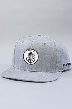 b64ff86b68986 Crooks and Castles The Anchor Crooks Snapback Cap in Heather Adjustable  snapback hat featuring logo patch embroidery on front panel  By Crooks and  Castles