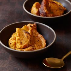 These mashed sweet potatoes are topped with Gruyère then baked so that the cheese forms a nutty-flavored crust.
