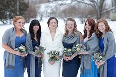 Great shawls for winter wedding; Spring Smith Studios