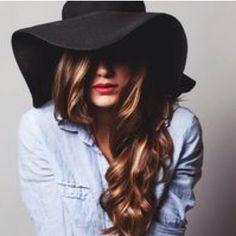 Black floppy hat Black floppy hat with dark brown braided band around. Price firm Accessories Hats
