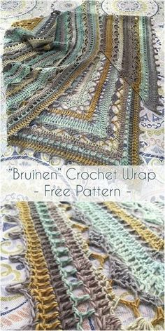 Today I found this adorable & cozy Bruinen Crochet Wrap Pattern designed by talented crochet designer Jasmin Räsänen. Read Here To Make Making Things Easier - Diy Crafts I hope you have enjoyed this beautiful crochet, th Crochet Wrap Pattern, Crochet Gratis, Knit Or Crochet, Crochet Scarves, Crochet Clothes, Crochet Stitches, Free Crochet, Crochet Patterns, Crochet Designs