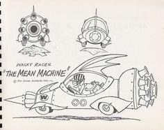Hanna-Barbera - Wacky Races - The Mean Machine Hanna Barbera, William Hanna, Vintage Cartoons, Classic Cartoons, Josie And The Pussycats, Pinturas Disney, Cartoon Sketches, Animation, Illustrations