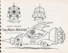 Hanna-Barbera Wacky Races model sheet, 1970