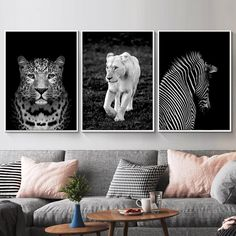 3 Piece Wall Art, Artwork Wall, Canvas Wall Decor, Canvas Art, Nordic Art, Animal Posters, Panel Art, Modern Wall Art, Picture Wall