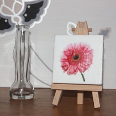 Pink Flower Miniature Canvas £6.80