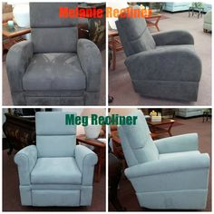 Here is the new Meg & Melanie Recliners.   COMING SOON RECLINING SOFAS AND SECTIONALS  ALL FOR SMALL AND TIGHT SPACES!  Keep checking back or give us a call 1-800-813-2889