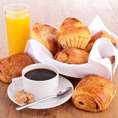 Photo about French breakfast on wood background. Good Morning Breakfast, Good Morning Coffee, Coffee Break, Breakfast Platter, Breakfast Recipes, Breakfast At Tiffanys, The Breakfast Club, Sweet Coffee, Good Food