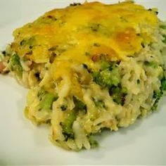 Broccoli Rice Casserole - A creamy side dish that is baked in a delicious cheese sauce. This is the best broccoli rice casserole you will ever eat!