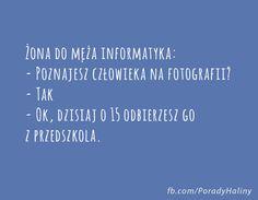Pozdrawiam wszystkich informatyków:-D Author, Fotografia