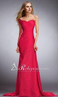 Une Bretelle Robe Longue En Flamme Dos Nu RPV0122. Love this dress.