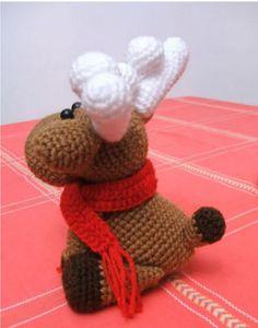 Этот пост посвящается любителям плюшевых лосиков :) В нем вы найдете схему вязания и описание этих замечательных вязаных игрушек амигуруми.