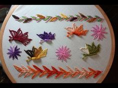 Hand Embroidery Designs | Basic embroidery stitches # Part-10 | Stitch and Flower-118 - YouTube