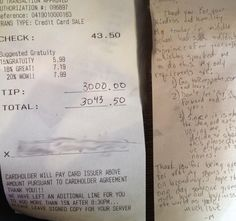 This enormous tip has an incredible story behind it