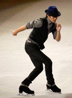 Oct 20, 2013; Detroit, MI, USA; Takahito Kozuka of Japan performs during the exhibition following the 2013 Skate America figure skating competition at Joe Louis Arena. Mandatory Credit: Raj Mehta-USA TODAY Sports (1024×1382)