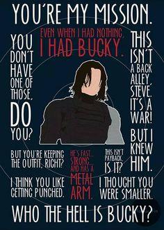 Bucky feels.
