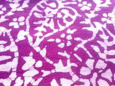 Batik Cotton Fabric Fandango Pink Violet White Indian Fabric