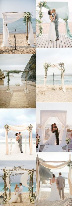 Beautiful arches for the perfect beach wedding ceremony!