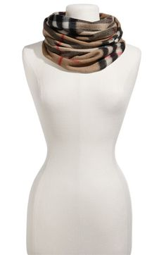 Burberry Oversized Check Cashmere Circle Scarf - Finally, the perfect neck warmer for those cold Chicago days