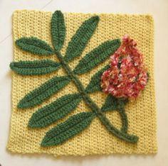 Sumac Afghan Square Pattern   hawthorn + rosehip