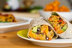 Amazing Black Bean and Butternut Squash Burritos #vegan #recipes