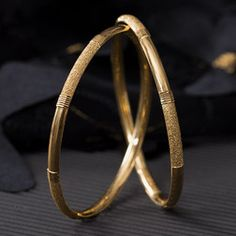 Plain Gold Bangles gms) - Fancy Jewellery for Women by Jewelegance Antic Jewellery, Antique Jewellery Designs, Gold Ring Designs, Gold Bangles Design, Fancy Jewellery, Gold Earrings Designs, Antique Jewelry, Jewelry Design, Diamond Jewellery