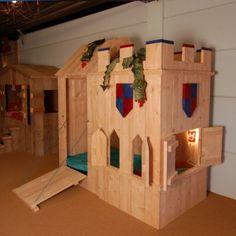 Stoer kasteelbed van nieuw steigerhout van Mura Mura