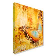 Golden Butterfly vintage-feel image Canvas Art, Canvas Prints, Animals Images, Creative Inspiration, Butterfly, Painting, Vintage, Photo Canvas Prints, Painting Art