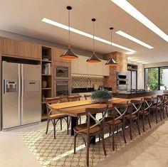 55 modern kitchen ideas decor and decorating ideas for kitchen design 2019 48 Patio Kitchen, Kitchen Room Design, Outdoor Kitchen Design, Farmhouse Kitchen Decor, Modern Kitchen Design, Kitchen Layout, Home Decor Kitchen, Interior Design Kitchen, Kitchen Furniture