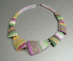 Necklace Quilt Dream by ST-Art-Clay, via Flickr
