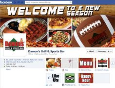 Custom #Facebook photos provided by #ATH Marketing for #Damon's Grill & Sports Bar in Steubenville, Ohio.  www.allthingshospitality.com