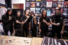 "MOTIONLESS IN WHITE Angelo Parente Ricky Horror Devin ""ghost"" sola Josh Balz Ryan Sitkowski Chris Motionless"