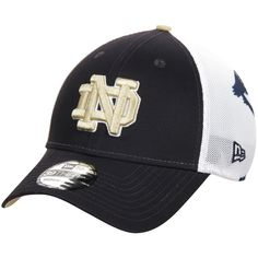 Notre Dame Fighting Irish New Era NCAA Logo Wrapped 39THIRTY Flex Hat - Navy - $21.59