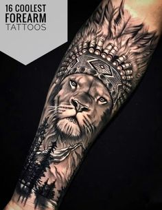 16 coolest forearm tattoos for men - 16 tattoos € . - 16 coolest forearm tattoos for men – 16 coolest forearm tattoos for men – - Lion Forearm Tattoos, Thigh Tattoo Men, Forarm Tattoos, Forearm Tattoo Design, Dope Tattoos, Leg Tattoos, Lion Head Tattoos, Lion Tattoo Sleeves, Mens Lion Tattoo