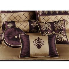 Prominent Bed Decorative Pillows Bed Rest Pillow With Arms At Walmart Designer Bed Sheets, Designer Pillow, Designer Throw Pillows, Neck Roll Pillow, Bed Rest Pillow, Pillow Talk, Gold Comforter Set, Bedding Sets, Dorm Bedding