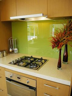 Kitchen Backsplash Colors 28 trendy minimalist solid glass kitchen backsplashes | 5105