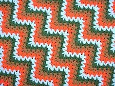 In July I wrote a post about the exceptionally nice V-stitch ripple afghan that I bought at a nearby thrift store. One of my dear readers, Mara Thomas, SummerMelody in Ravelry, has amazed me, not o… Ripple Afghan, Crochet Ripple, Crochet Afgans, Love Crochet, Crochet Blankets, Afghan Blanket, Easy Crochet, Vintage Crochet, Baby Blankets