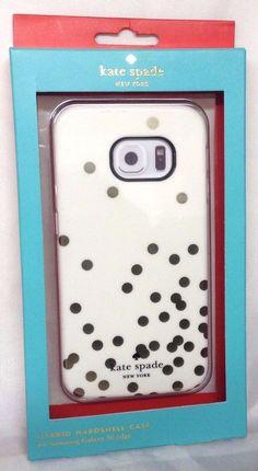NEW Kate Spade N.Y. Hybrid Case for Samsung Galaxy S6 Edge - Cream/Gold Dot/Pink #katespadenewyork
