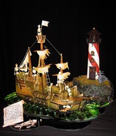 Gingerbread Pirate Ship  (I think you should go a new direction this year!)