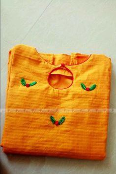 Salwar Neck Patterns, Frock Patterns, Designer Blouse Patterns, Churidhar Neck Designs, Dress Neck Designs, Blouse Designs, Hand Embroidery Dress, Hand Embroidery Videos, Churidar Designs