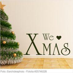 Wandtattoo Weihnachten - We Love X Mas
