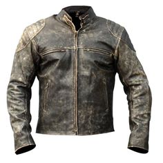 This is a Custom item and usually ships within 5 business days This jacket is made of Grade A leather. It has been painstakingly designed and manufactured with attention to details. - External: Cowhide Leather - Front: Snap tab Button Closure with Zipper opening - Pockets: 2 horizontal zipper chest pockets and 2 waist vertical pockets - Collar: Low Collar - Sleeves: Zip Closure Superb Quality Stitching