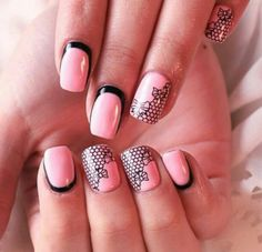 Pink and blak