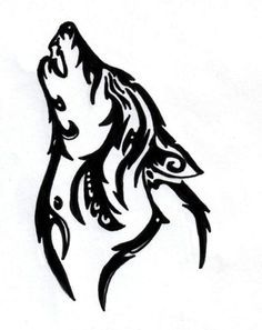 Each design will feature a wolf with a different emotion and this one is the mournful/lonely wolf. Lonely Wolf And Moon Tattoo Wolf And Moon Tattoo, Wolf Moon, Wolf Tattoos, Tatoos, Tribal Wolf, Tribal Art, Tribal Tattoo Designs, Tribal Tattoos, Tribal Drawings