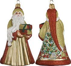 Glitterazzi Santa Presents Ornament by Joy to the World