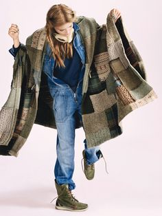 Loving this knitted patchwork wrap/shawl/blanket! Poncho by Ralph Lauren