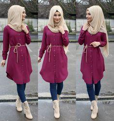 Muslim Women Fashion, Islamic Fashion, Stylish Dress Designs, Stylish Dresses, Mode Outfits, Fashion Outfits, Hijab Fashion Inspiration, Hijab Outfit, Kurti