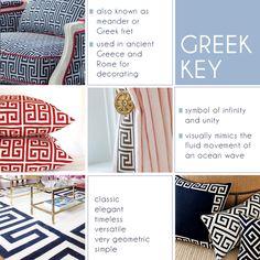 Greek key pattern in interiors on niceandnicer.com #greekkey #pattern