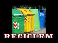 CançóEL RECICLATGE versió curta Riddles, Ideas Para, Youtube, Poems, Recycling, Science, Green School, Kids Songs, Music Is Life