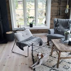 Home & Decor Cabins In The Woods, House In The Woods, Home Living Room, Living Room Decor, Scandinavian Cabin, Chalet Interior, Cosy Room, Rustic Interiors, Log Homes